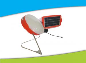 linterna solar con pie